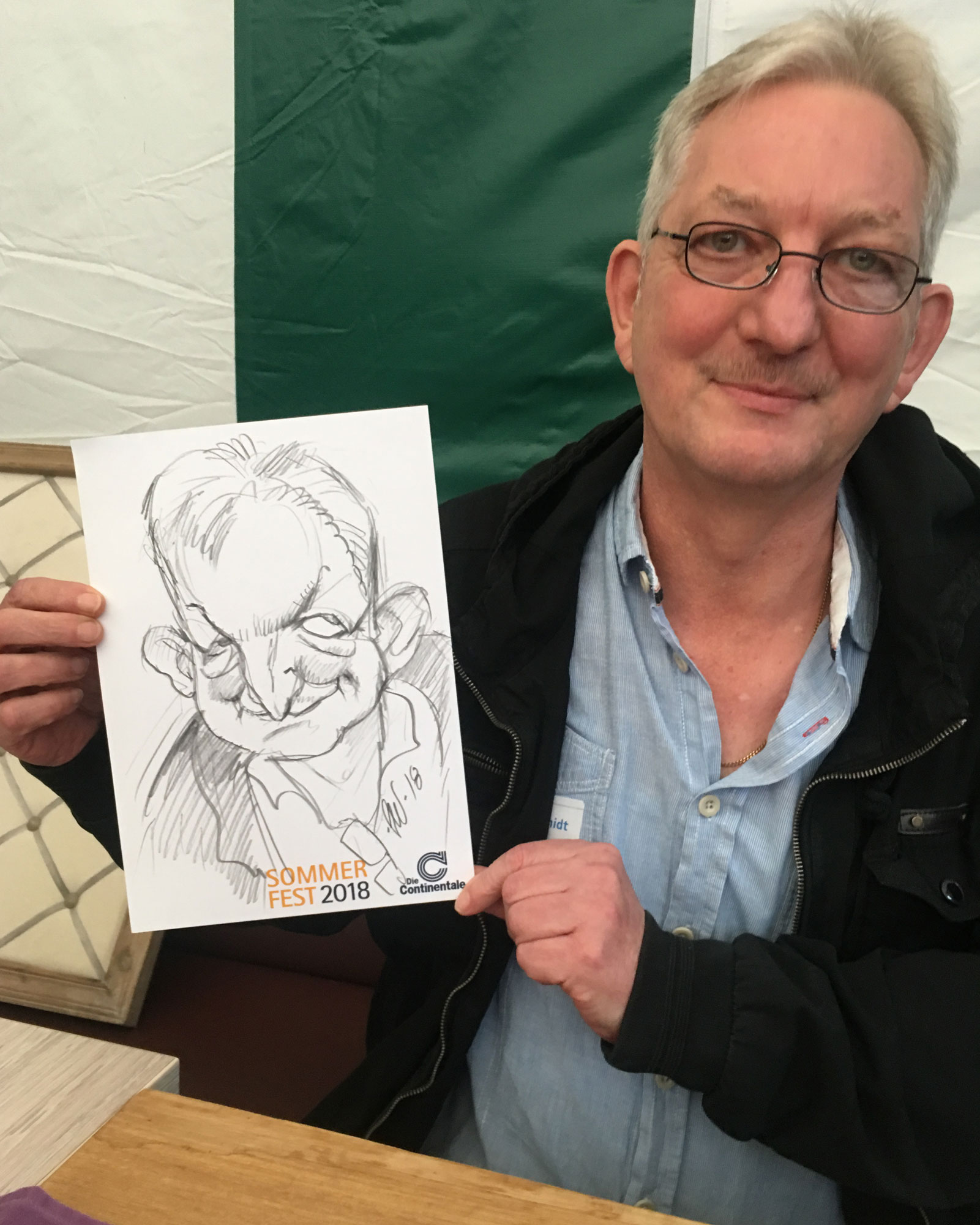 Caricature Drawing. Die Continentale Sommer Fest 2018.