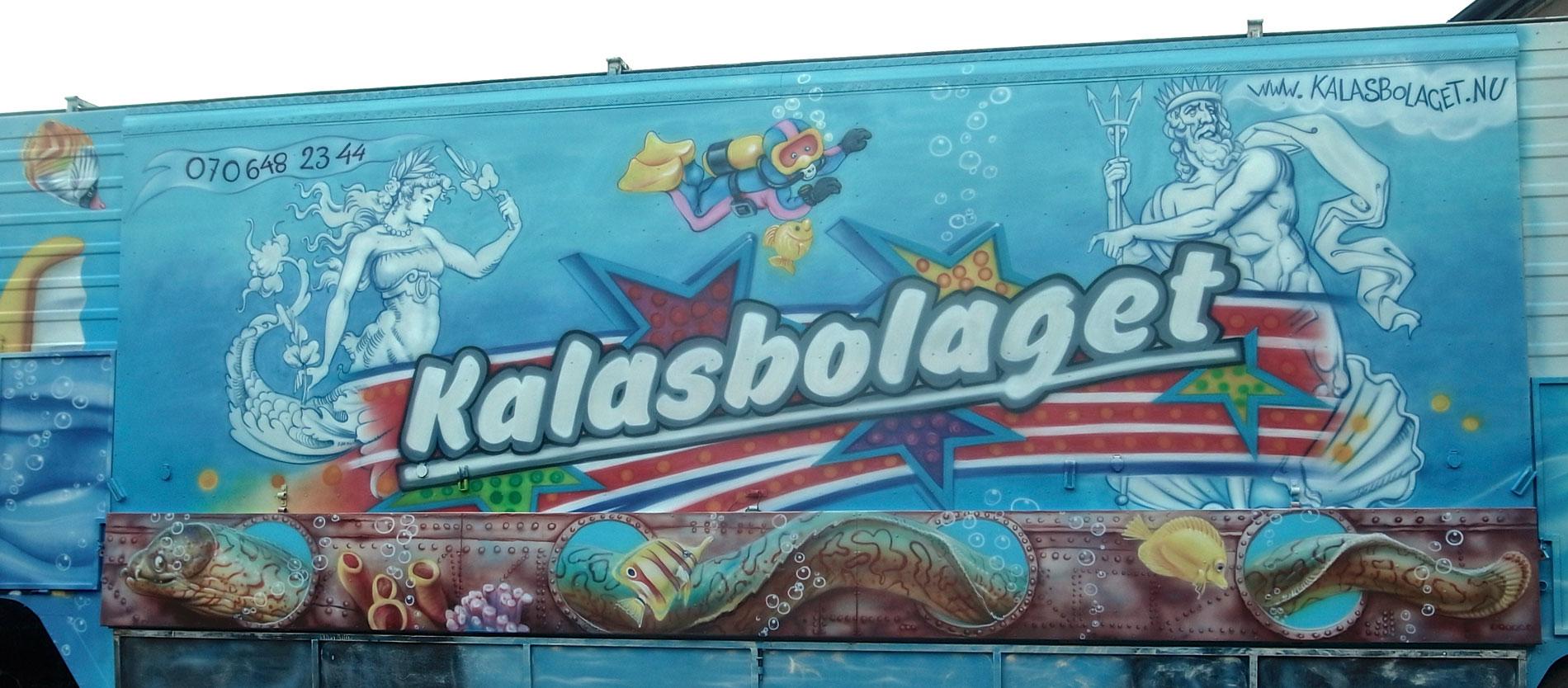"""Lottery Kiosk """"UnderWater"""". Calasbolaget."""